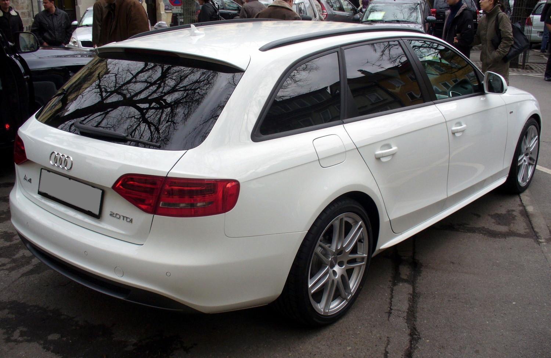 File Audi A4 B8 Avant S Line 2 0 Tdi Ibisweiß Heck Jpg