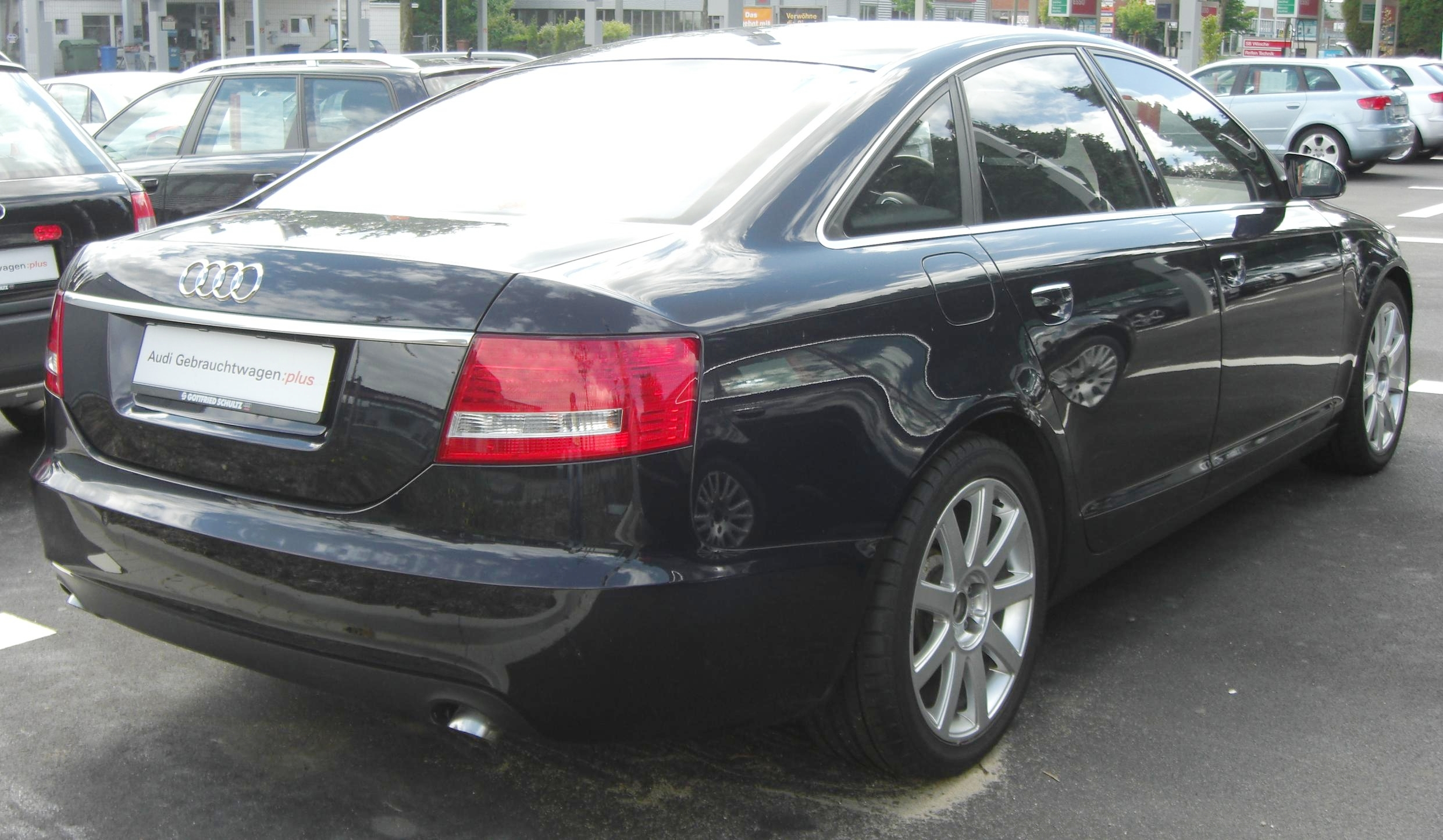 File Audi A6 C6 Rear Jpg Wikimedia Commons