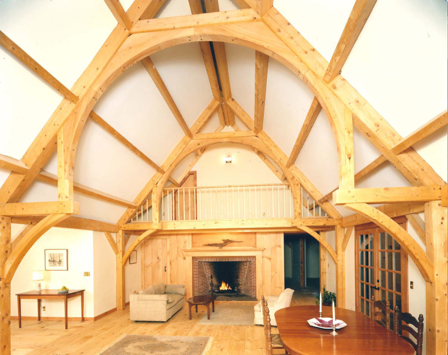 Hammerbeam roof wikidwelling for How to build a timber frame house