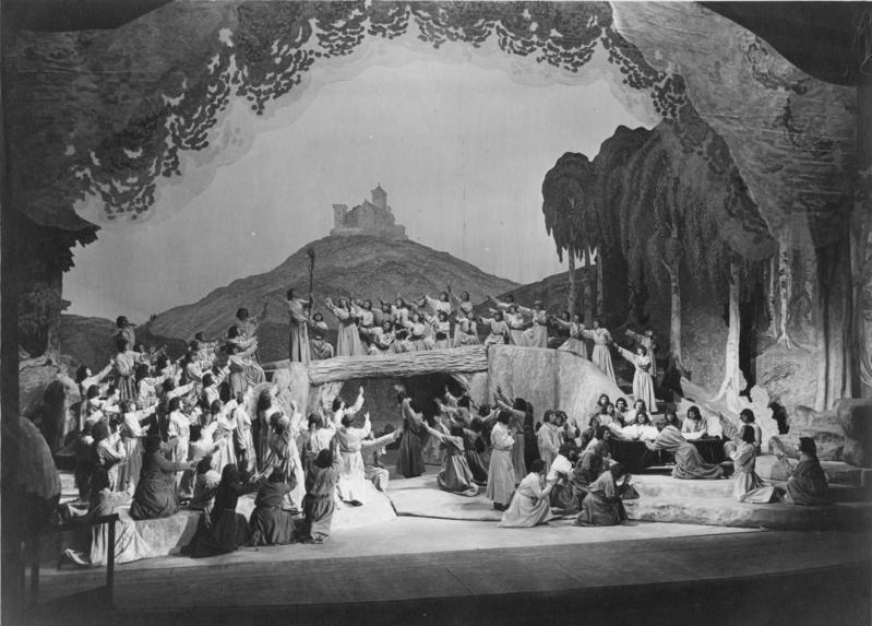 """Bundesarchiv Bild 183-2004-0512-501, Bayreuth, Festspiele, """"Tannhäuser"""", Schluss"""