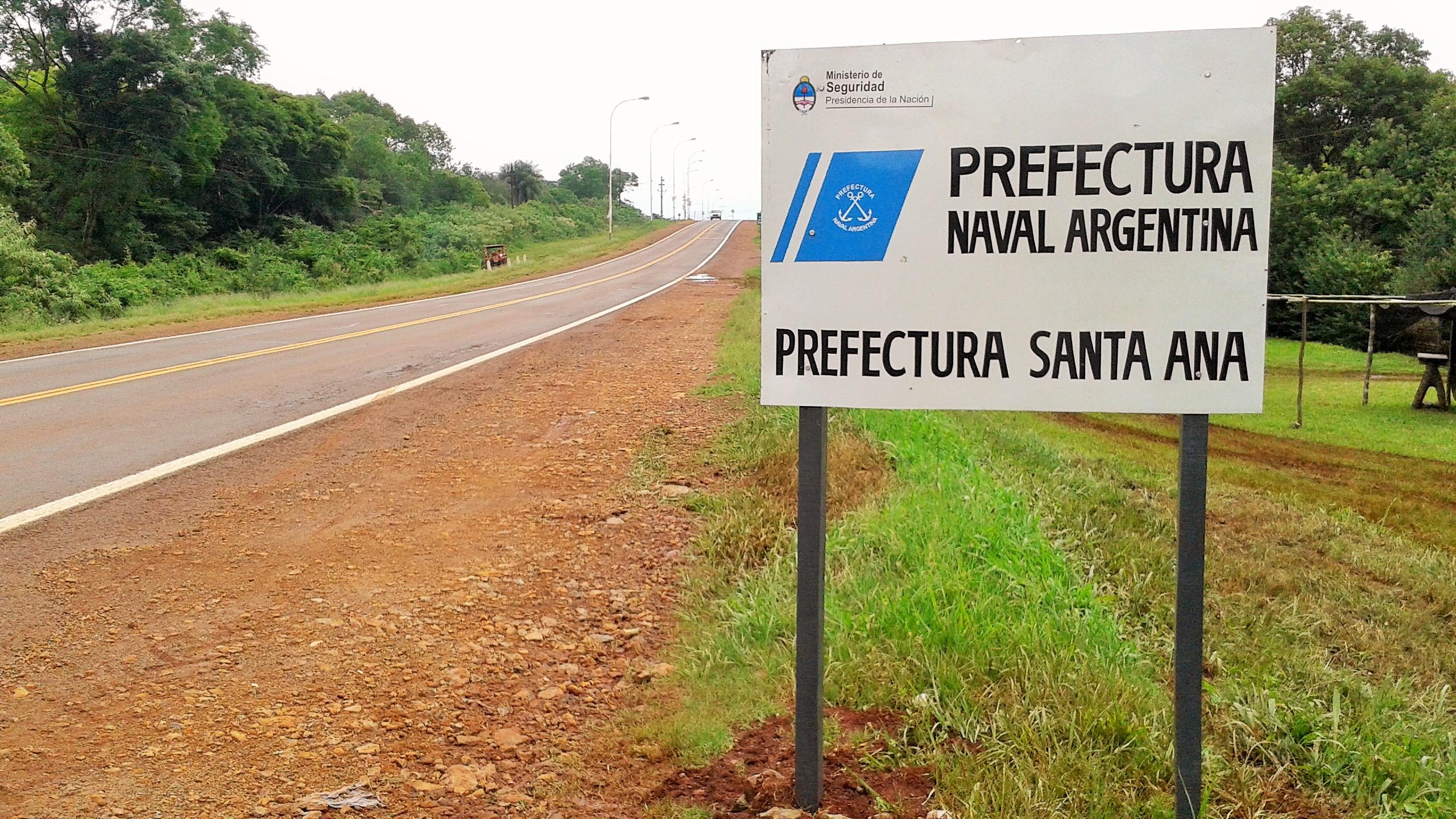 File:Cartel Santa Ana (Misiones, Argentina) - Prefectura Naval ...