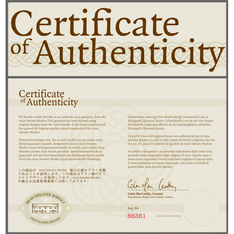 Letter Of Authenticity For Artwork Template