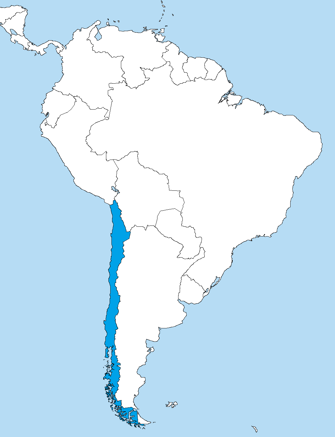 Map Of South America 2017.File Chile In South America Png Wikimedia Commons