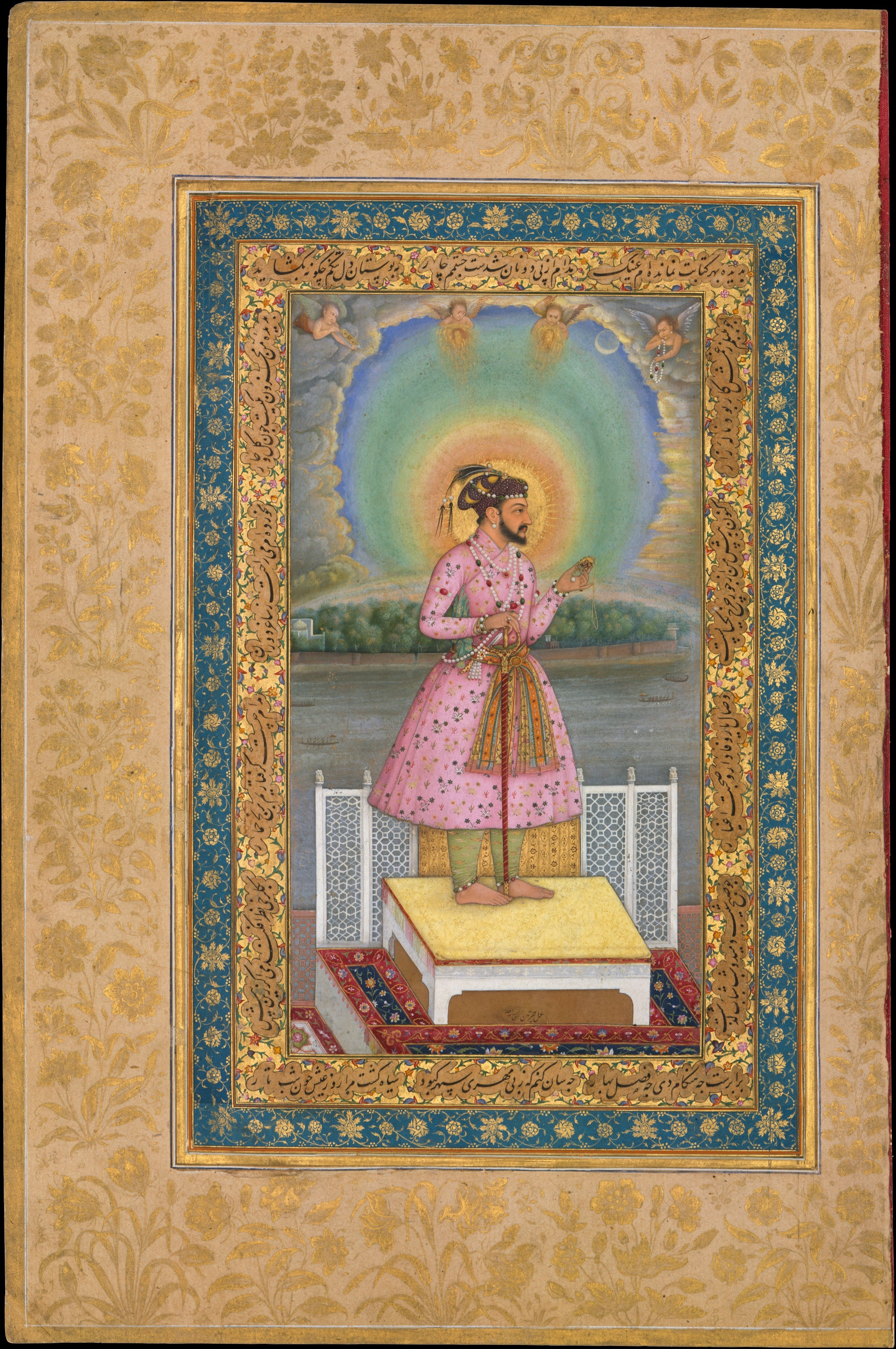 File Chitarman  Shah Jahan On A Terrace  Holding A Pendant