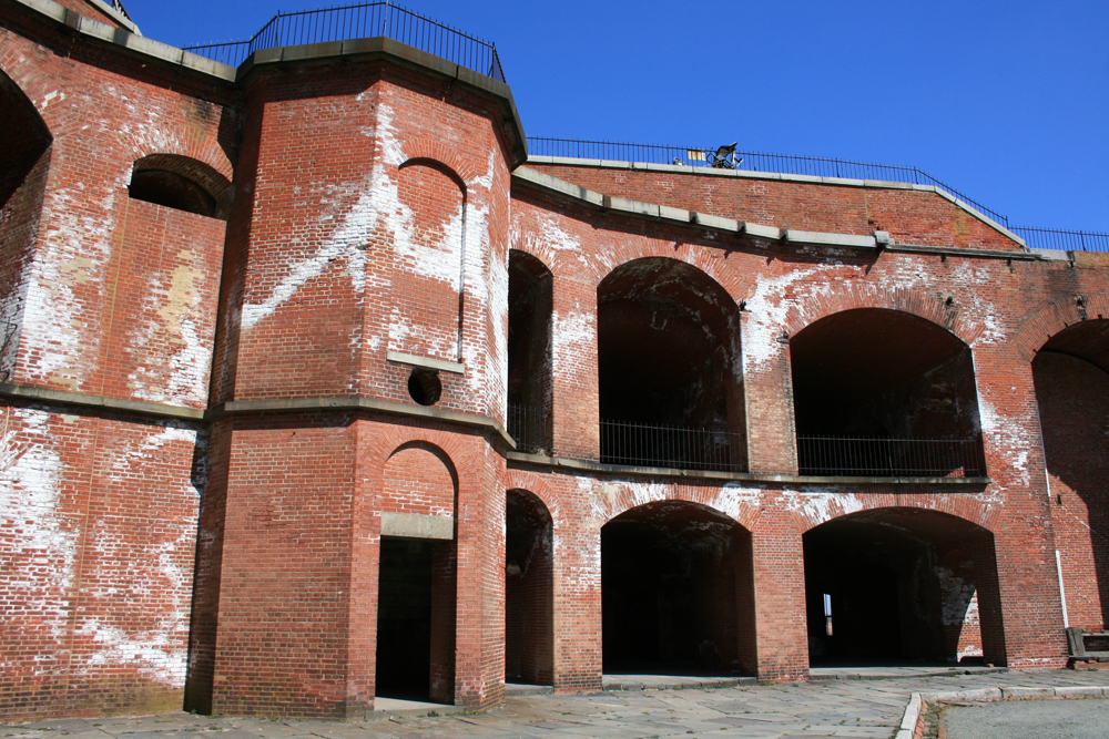 Circular Brick Stairwell And Casemates Inside Fort Delaware