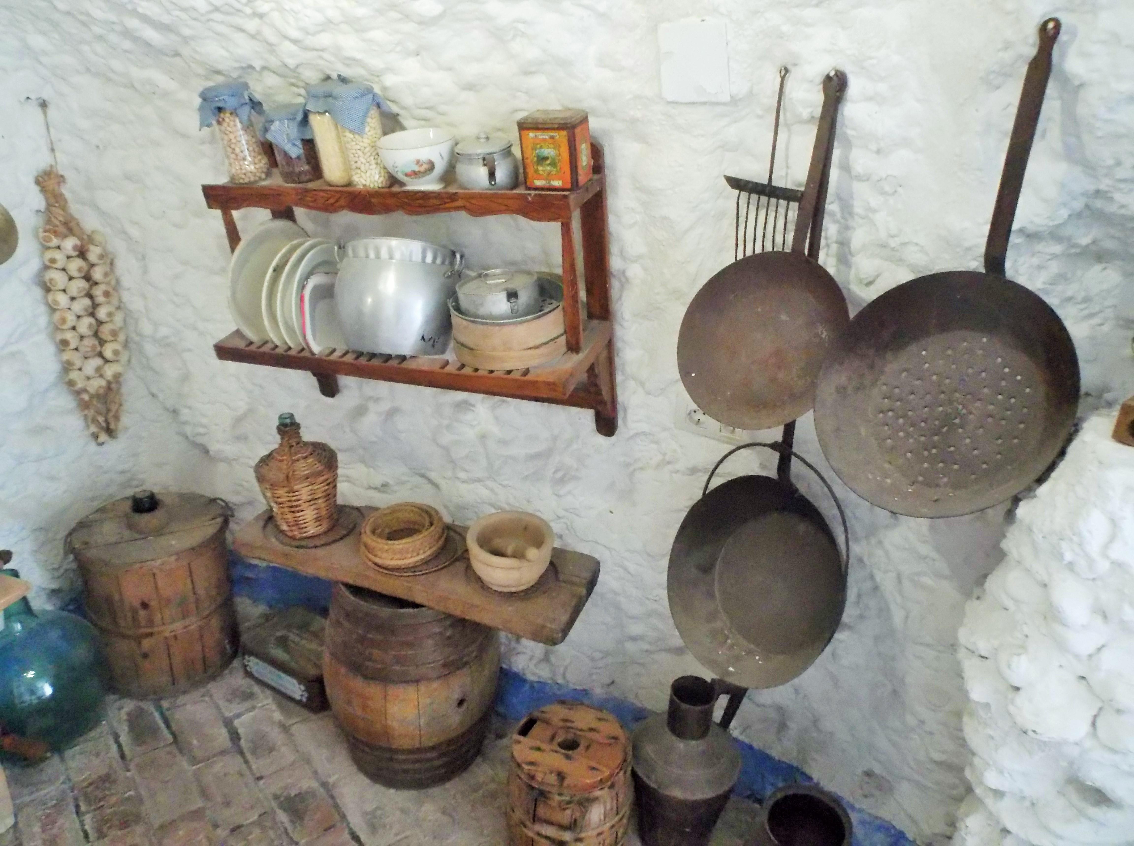 Cursos De Cocina En Granada | File Cocina Gitana Reconstituida En El Museo Cuevas Del Sacromonte
