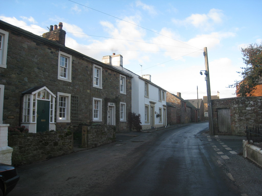 File Cottages At Bowness On Solway Cumberland Geograph