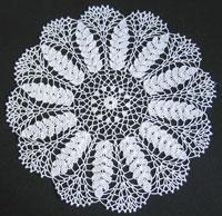 Crocheted doily, representing ears of ripe wheat.jpg