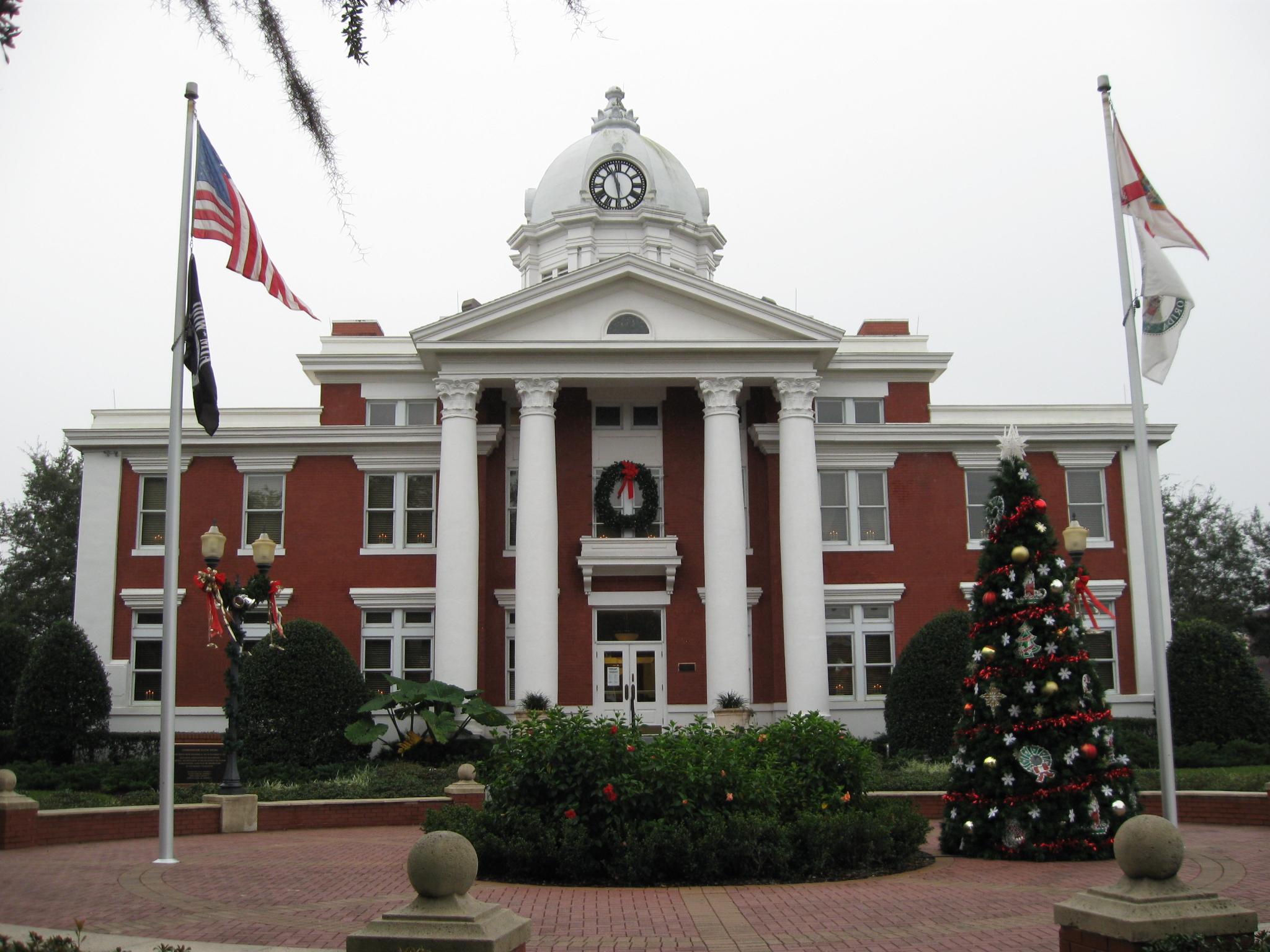 Phenomenal File Dade City Fl Courthouse Pasco County Christmas Home Remodeling Inspirations Propsscottssportslandcom
