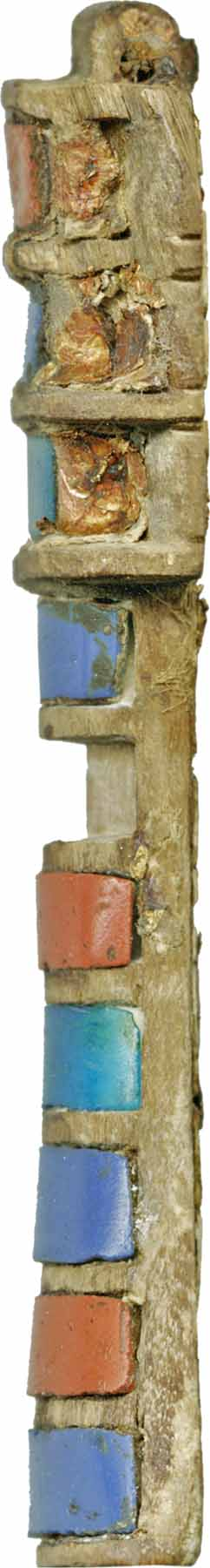 Dyed Egyptian_-_Djed_Pillar_-_Walters_61214_-_Right