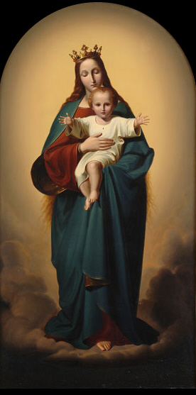 Ernst Deger Maria als Himmelskönigin mit Kind