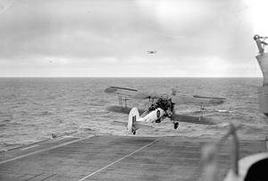 Fairey Swordfish lifst off from .HMS Strikerj.jpg