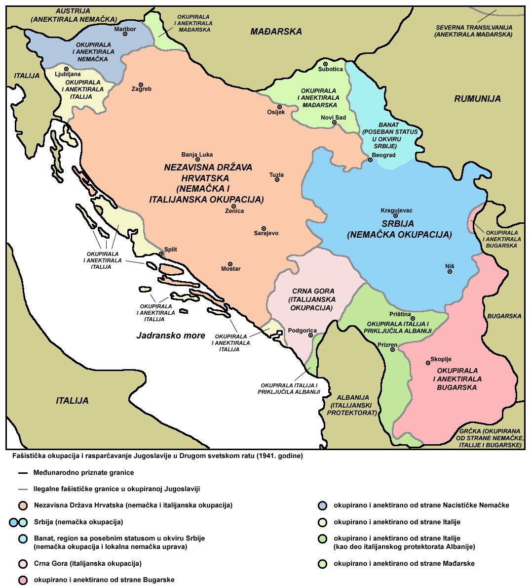 karta srbije za navigaciju Okupacija Jugoslavije u Drugom svetskom ratu   Wikipedia karta srbije za navigaciju