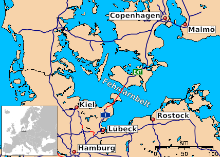Map Of Northern Germany And Denmark.Fehmarn Belt Fixed Link Wikipedia