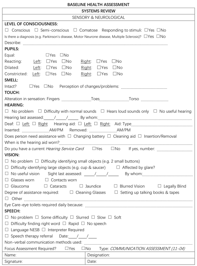 File:Figure 2-2. A sample nursing assessment form for an Australian ...