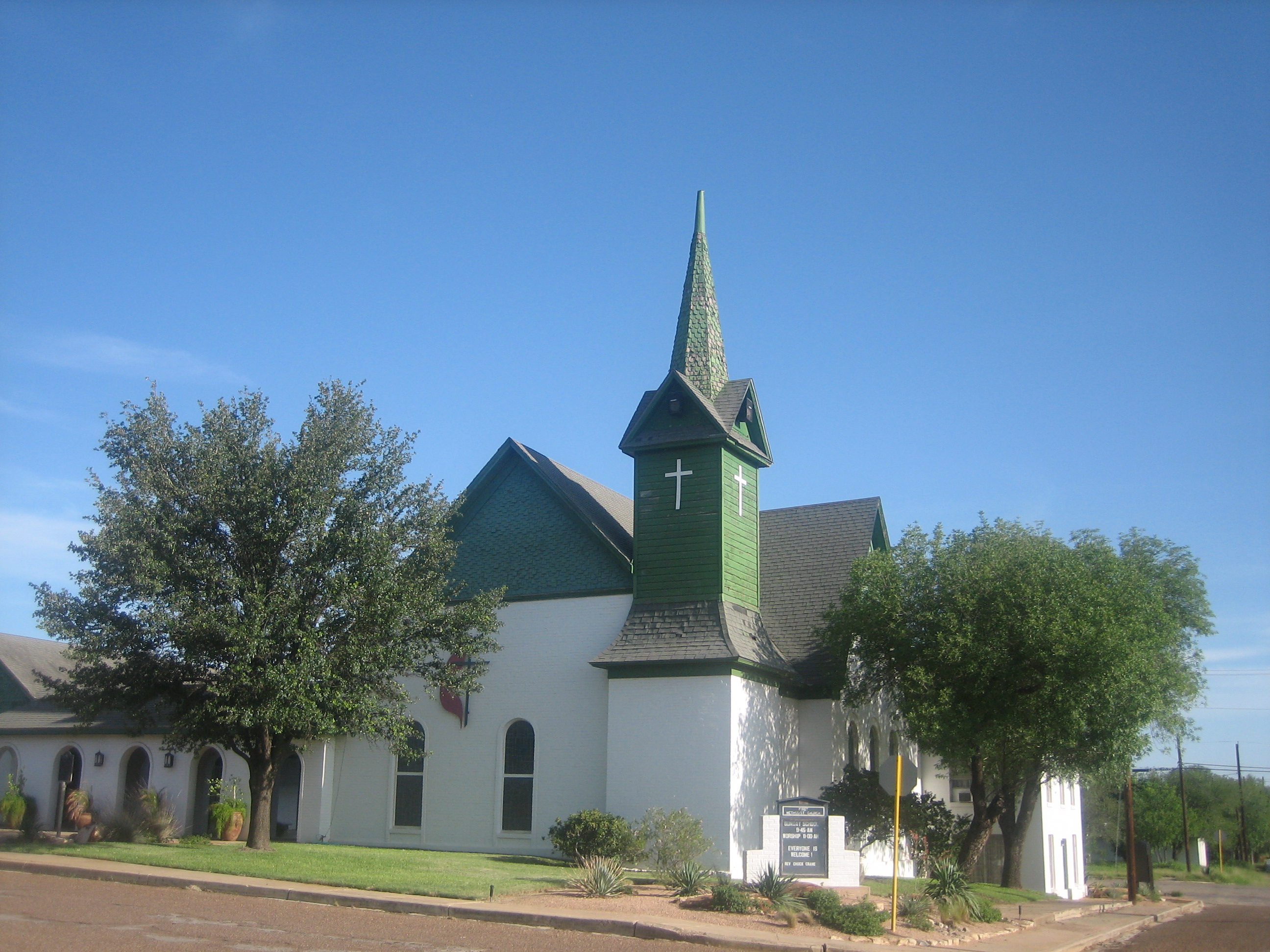 Cotulla (TX) United States  City new picture : older downtown part of cotulla sacred heart catholic church in cotulla