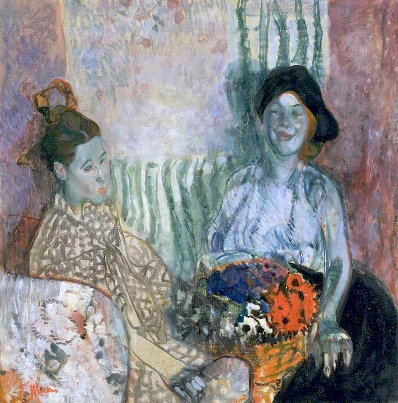 Frances Hodgkins Loveday and Ann Two Women with a Basket of Flowers.jpg