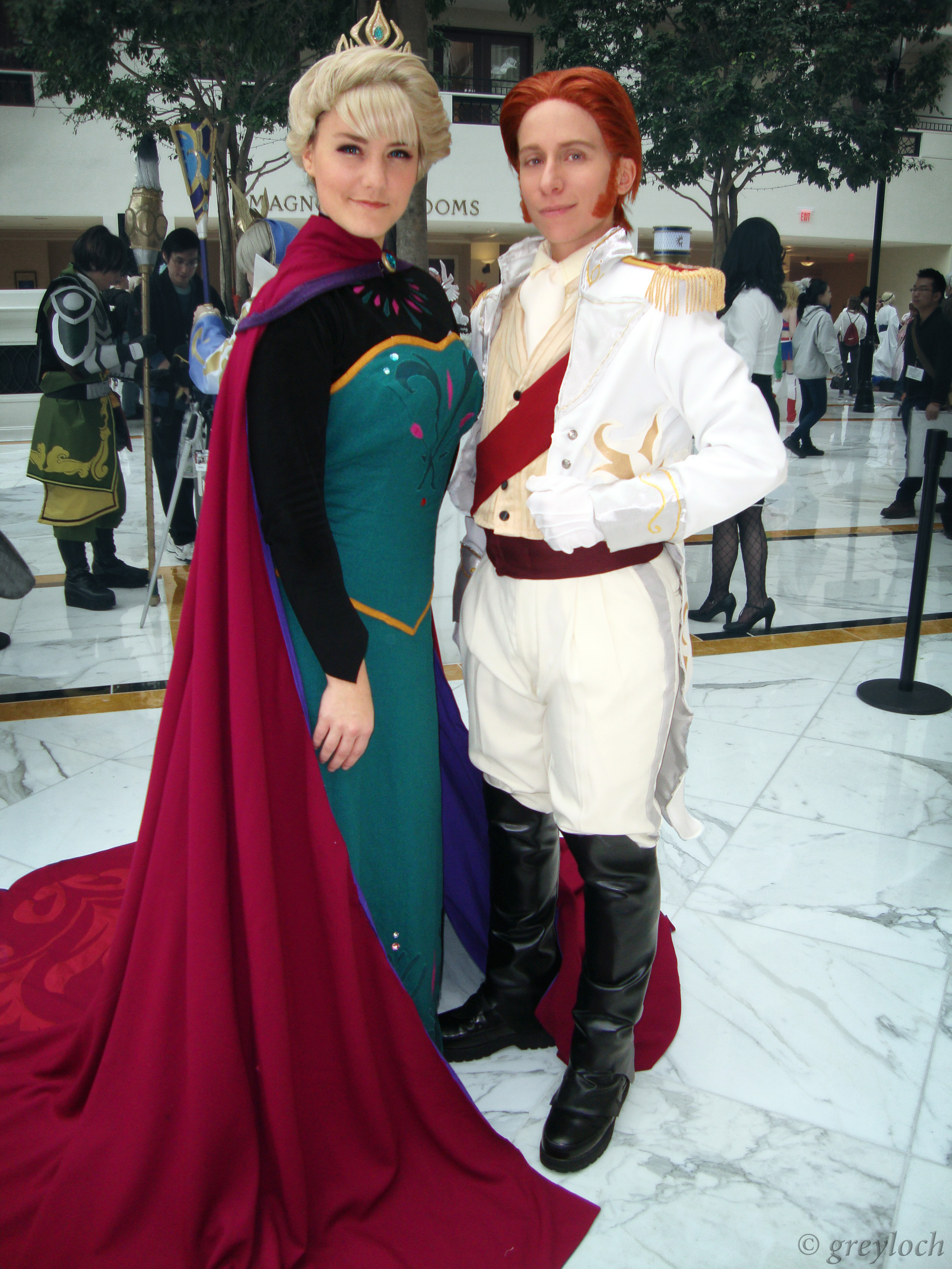 File Frozen Cosplay Elsa And Hans Jpg Wikimedia Commons