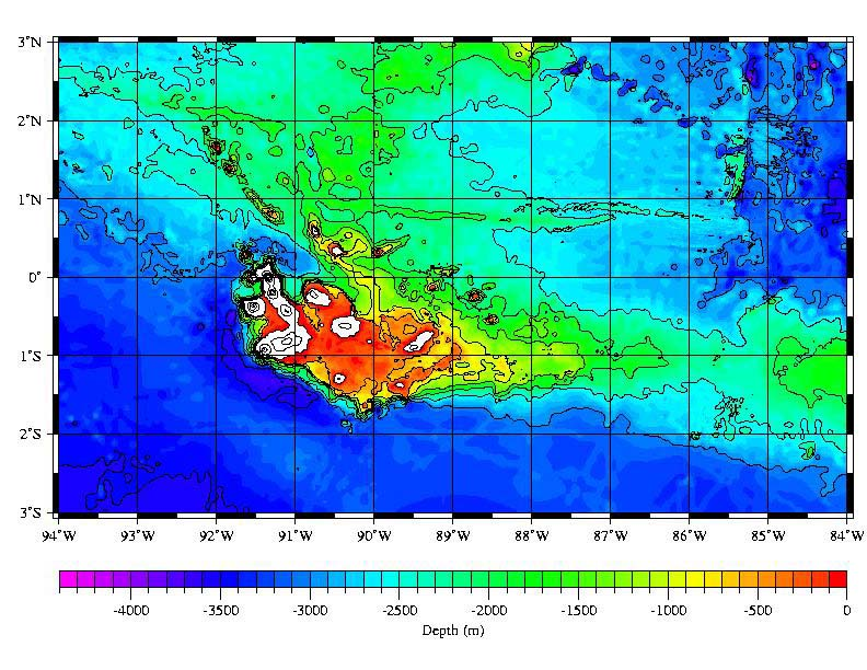 Sea Floor Elevation Data : Galápagos hotspot wikipedia