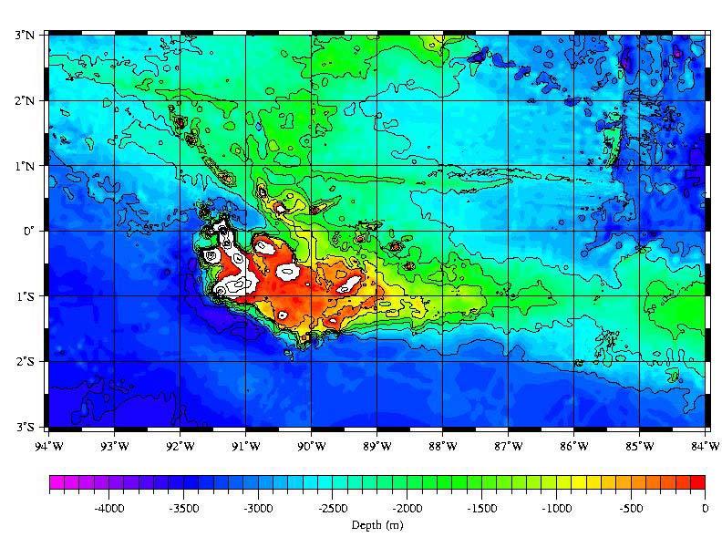 Sea Floor Elevation Map : Galápagos hotspot wikipedia