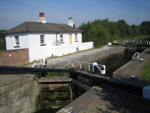 Grand Union Canal, Widewater Lock in South Harefield - geograph.org.uk - 523109