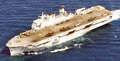 File:HMS Ocean, in parade formation.jpg
