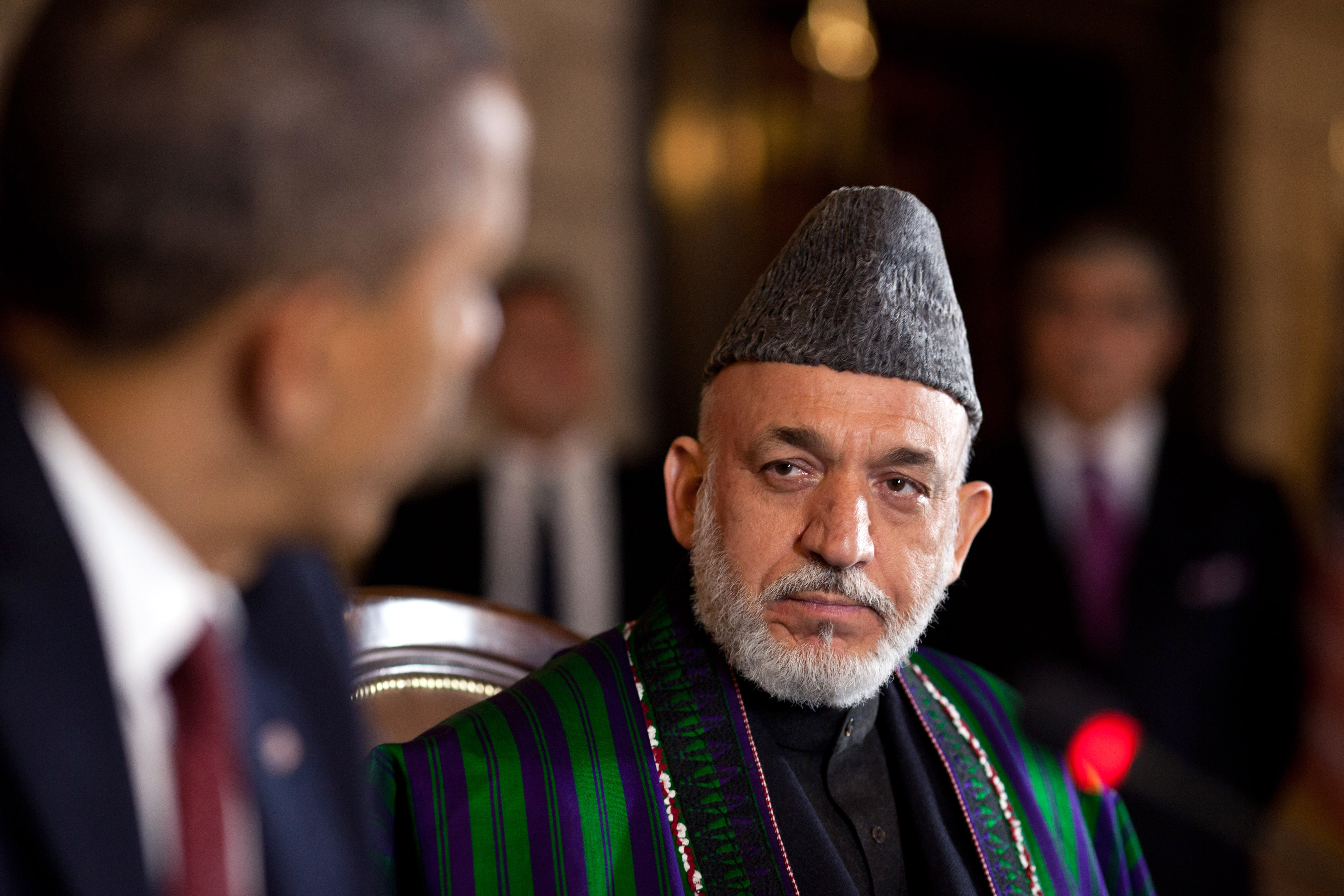 filehamid karzai listens to barack obama in kabul 2012jpg