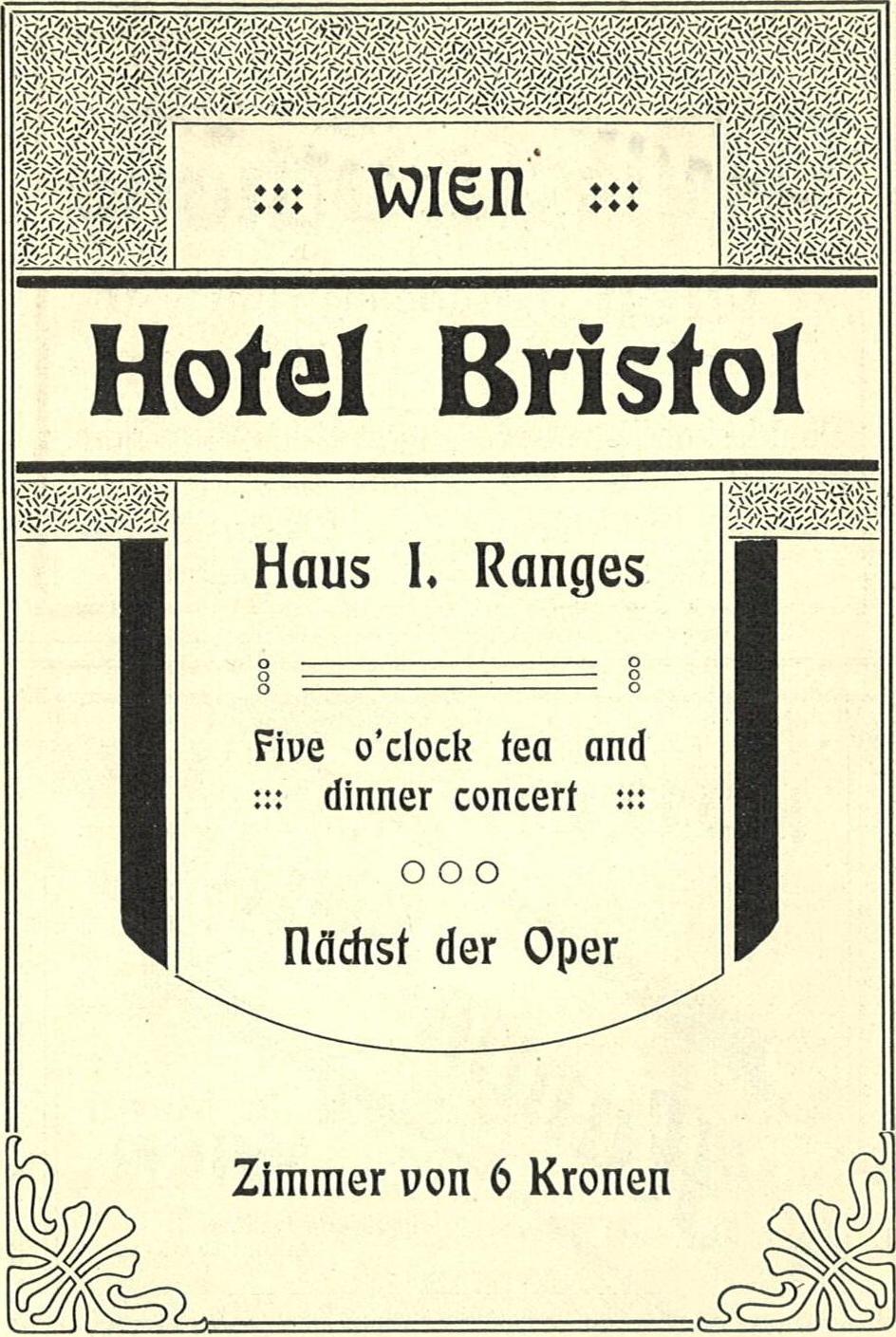 Hotel Bristol Vienna Do They Do Tea Coffeein Room