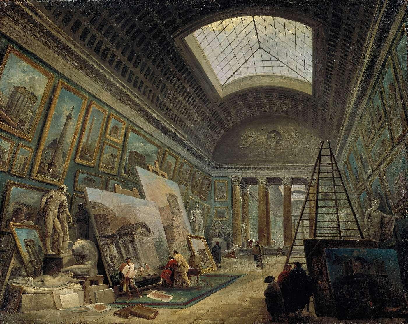 File hubert robert une galerie du mus wikimedia - Le salon de la photo ...