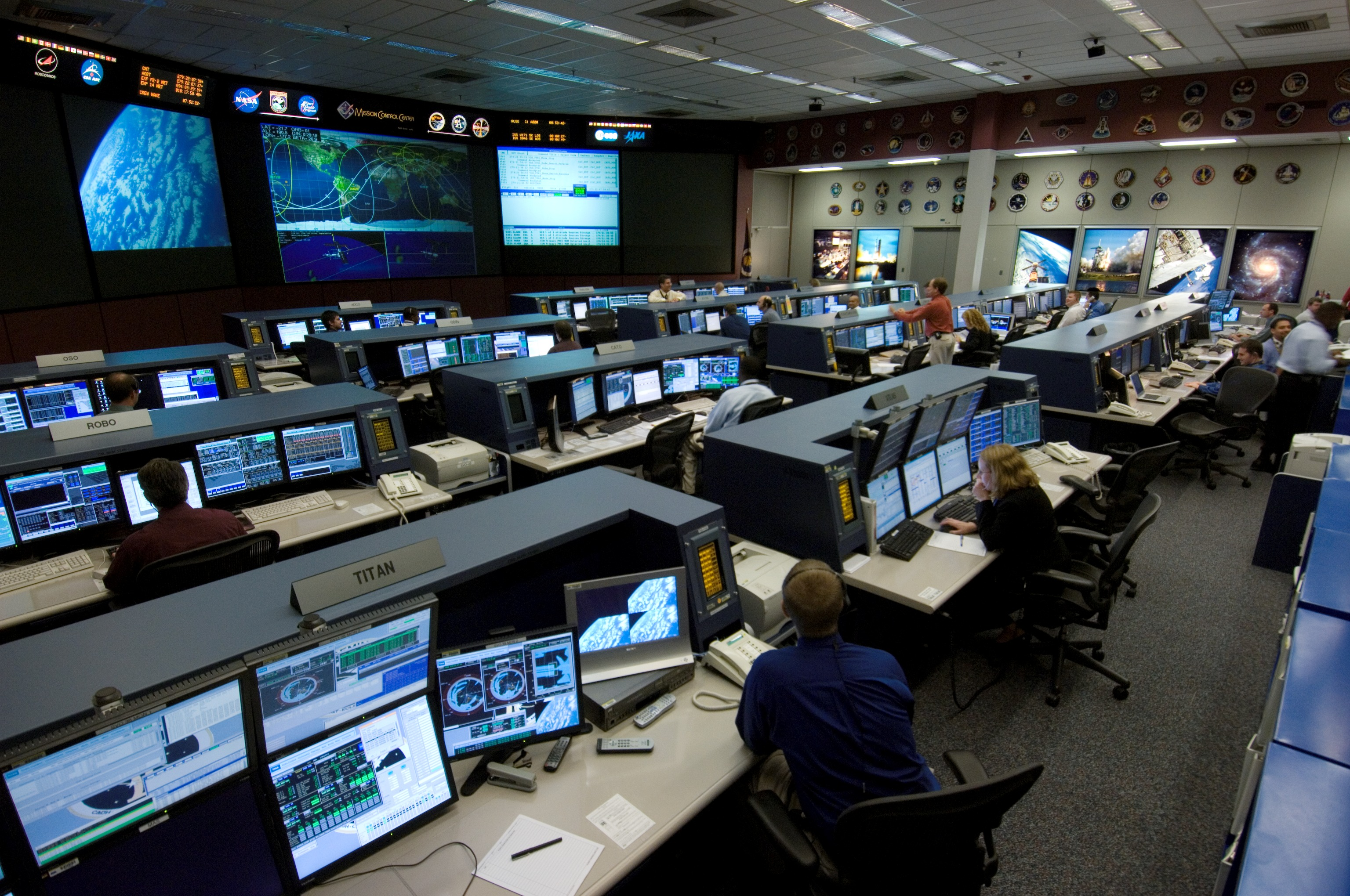 Inside Spaceship Control Room