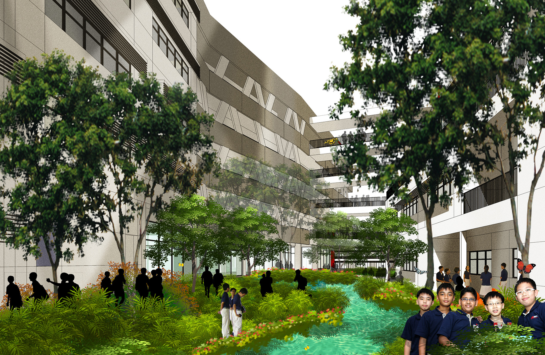 file illustration of the eco garden of the new campus of the