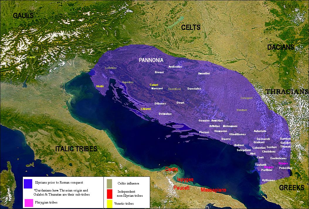 Illyricum - horvátok eredeti  törzsterülete