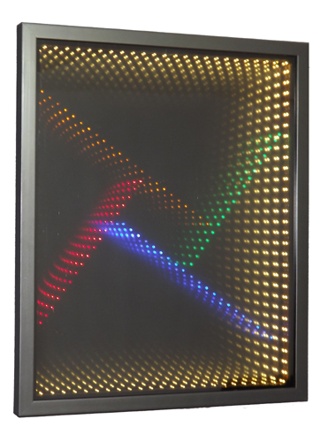 Dichroic Glass Infinity Mirror