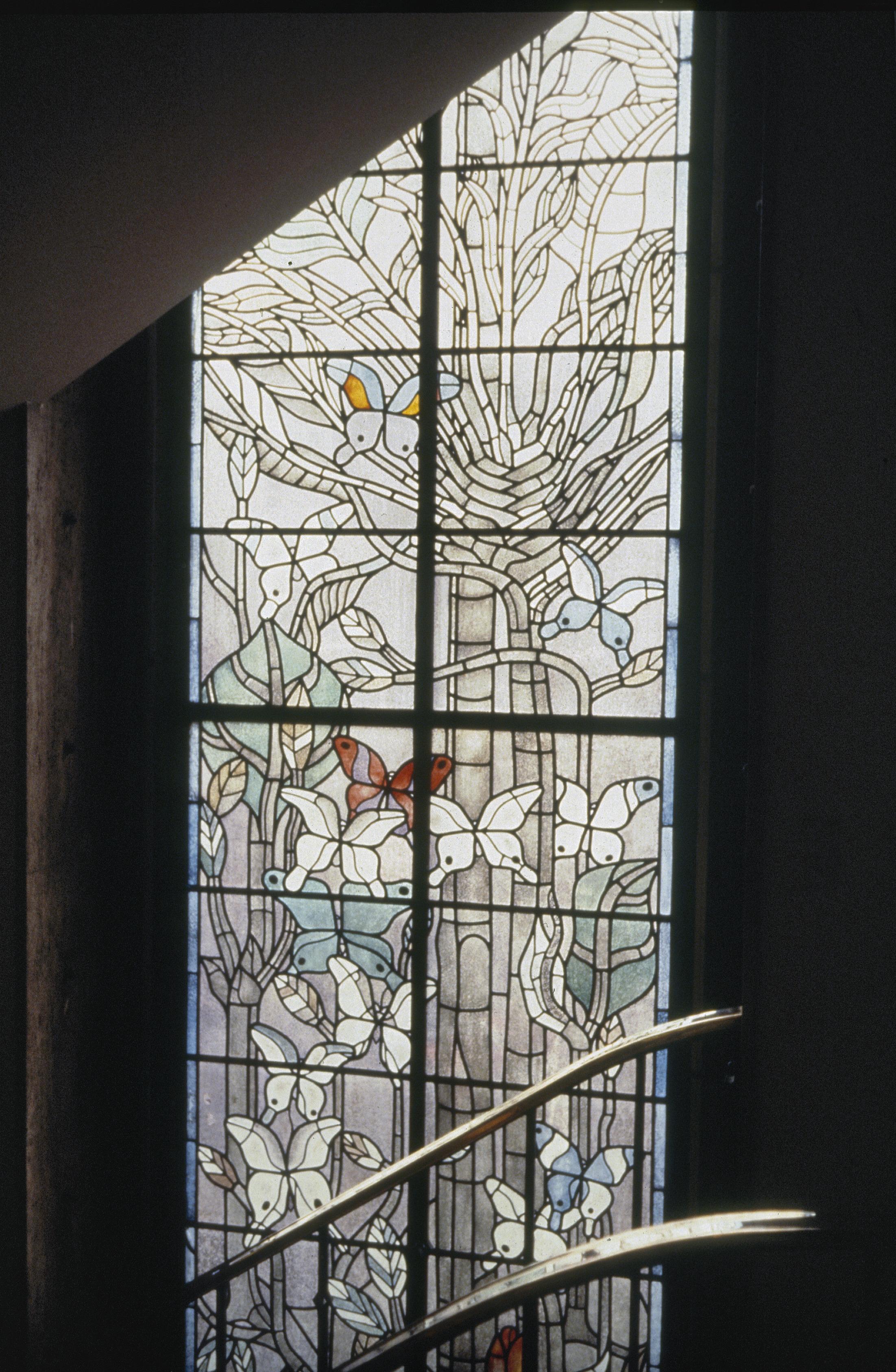 datei interieur trappenhuis gebrandschilderd glas in loodraam amsterdam 20366320. Black Bedroom Furniture Sets. Home Design Ideas