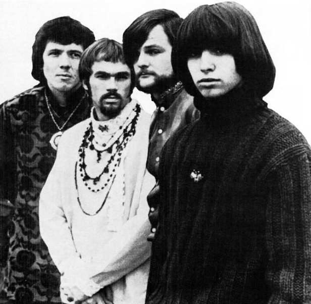 Classic lineup of Iron Butterfly in 1969: from left to right [[Doug Ingle]] (organ, lead vocals), [[Ron Bushy]] (drums, percussion), [[Lee Dorman]] (bass, backing vocals), [[Erik Braunn]] (guitars, backing and occasional lead vocals)