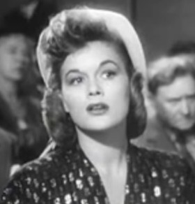 Cropped screenshot of Jean Hagen from the trai...