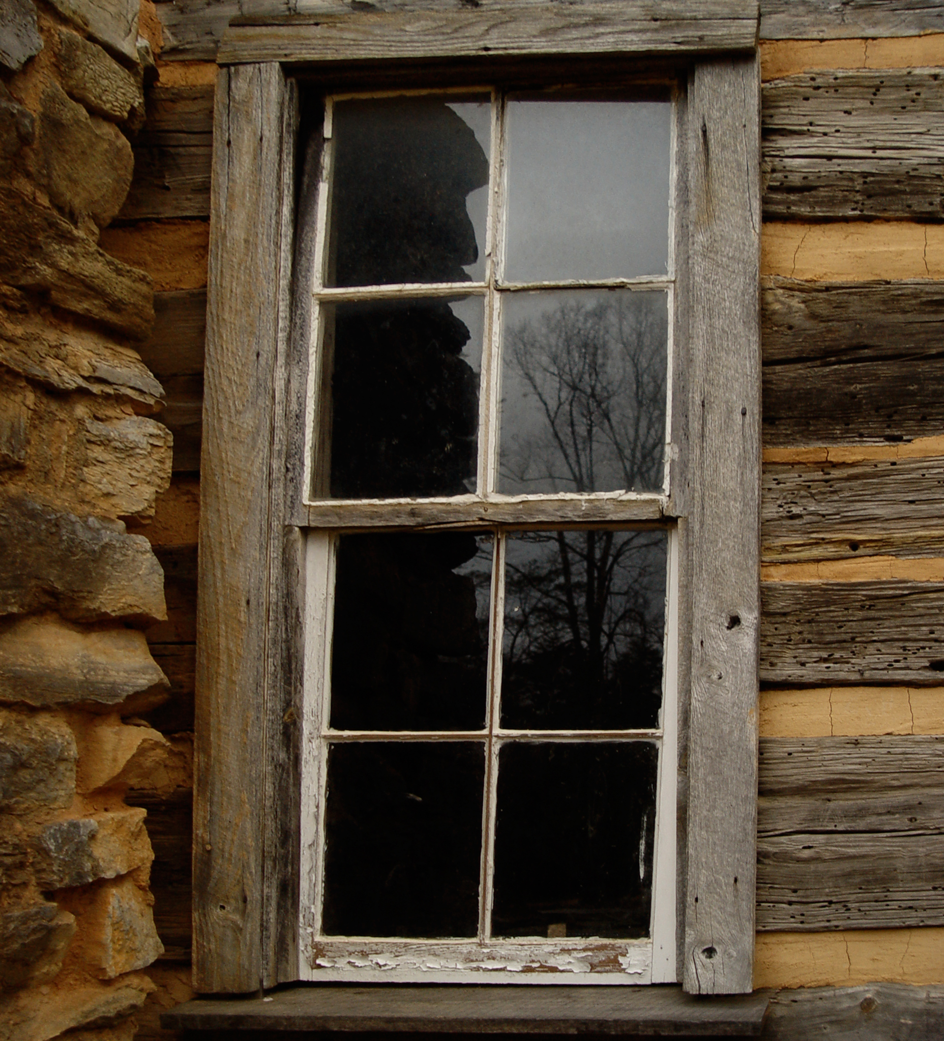 File John Oliver Cabin Window Detail Jpg Wikimedia Commons