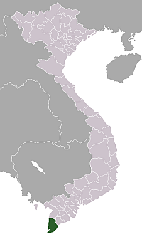 Location of Cà Mau Province