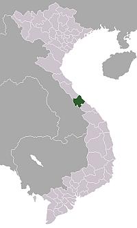 クアンチ省の場所