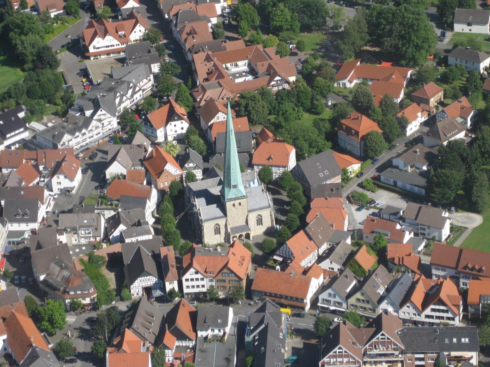 Der Stadtkern von Delbrück (2008)