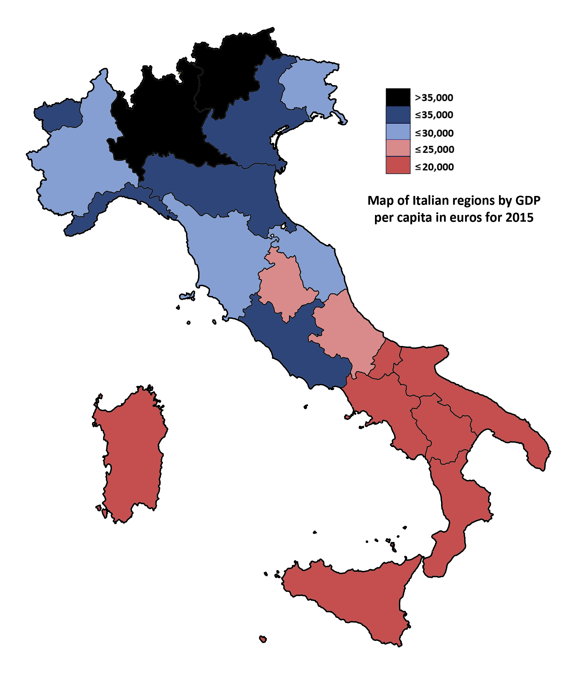 File Map Of Italian Regions By Gdp Per Capita In Euros 2015