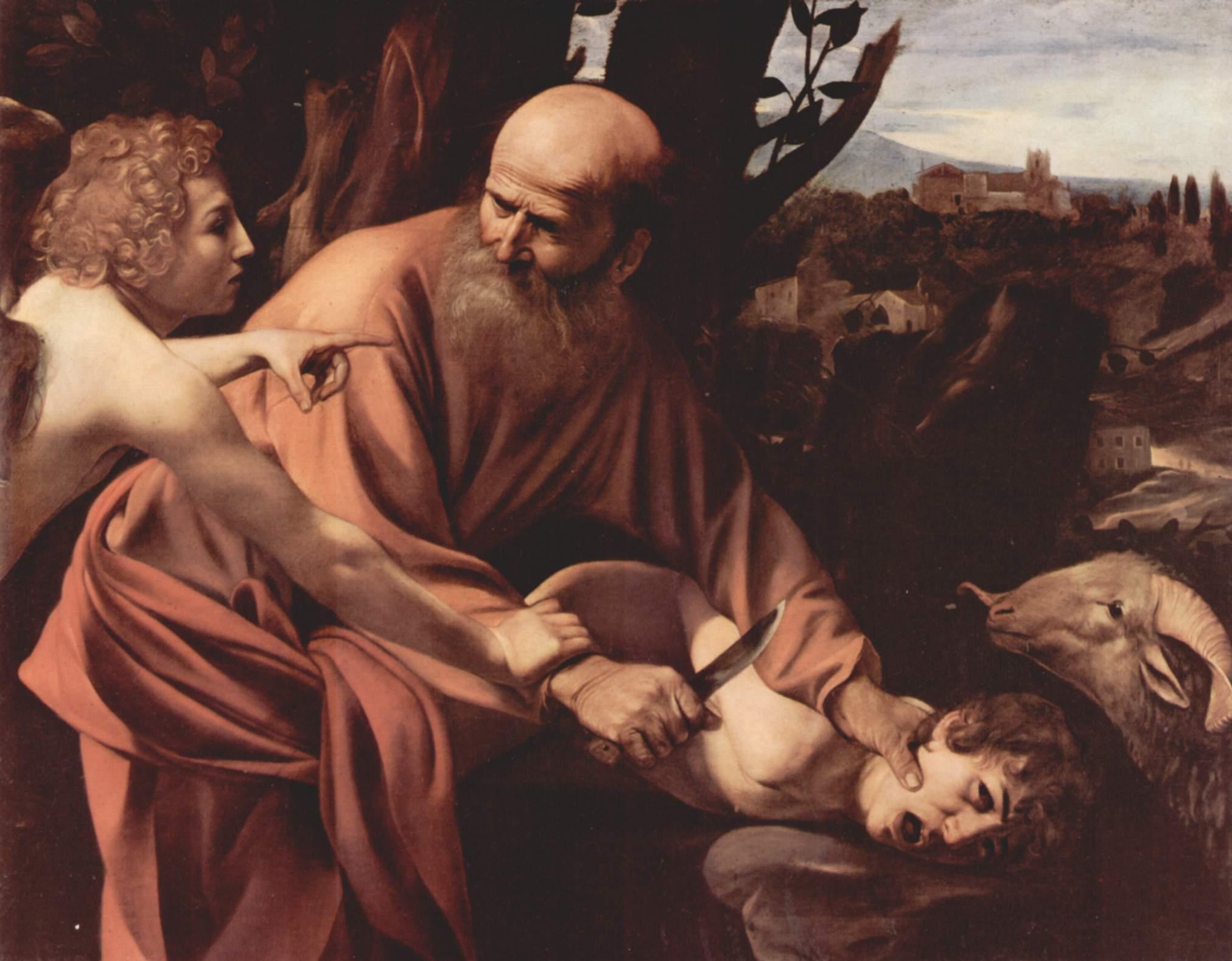 Caravaggio: il sacrificio di Isacco