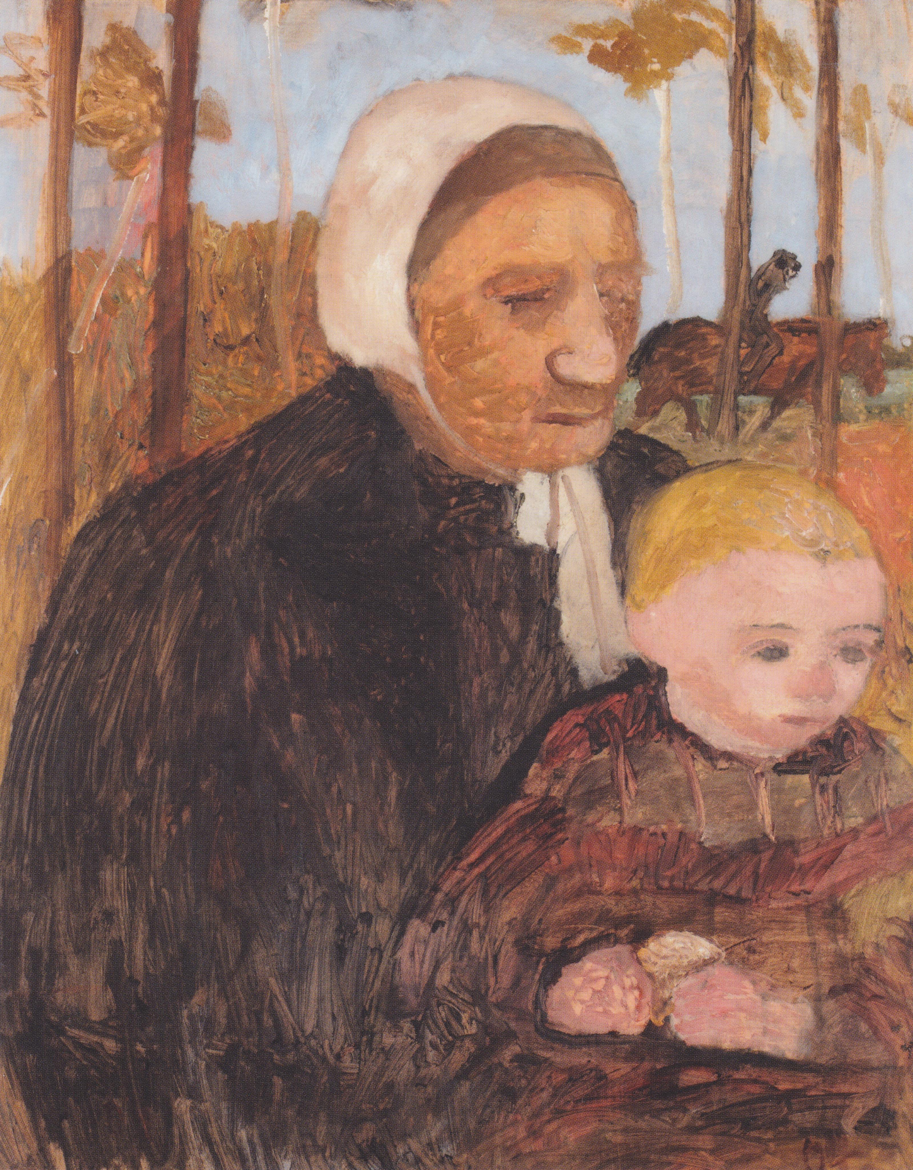 File Modersohn Becker Bäuerin Mit Kind Im Hintergrund Ein Reiter