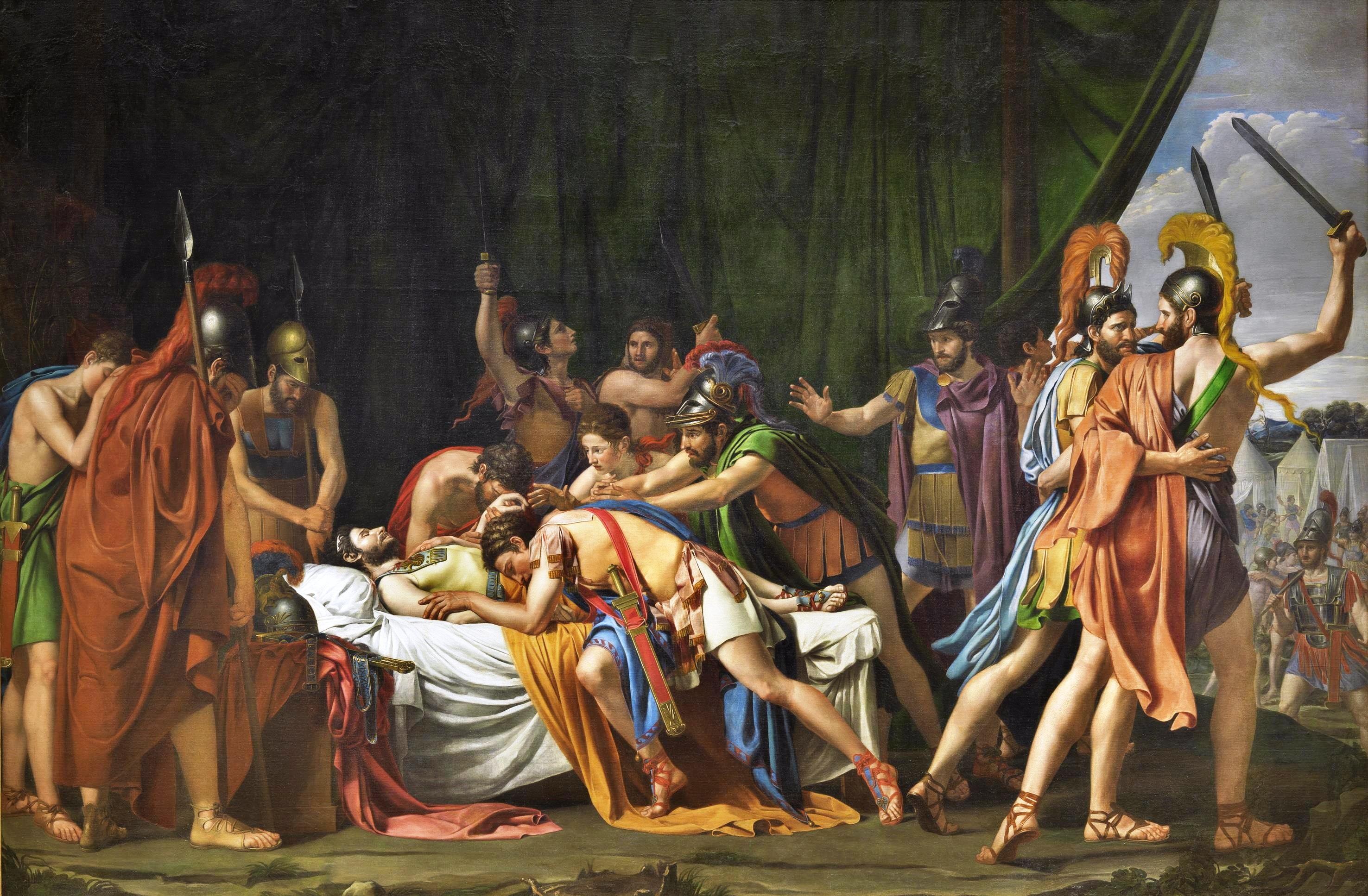 Muerte de Viriato por José Madrazo.