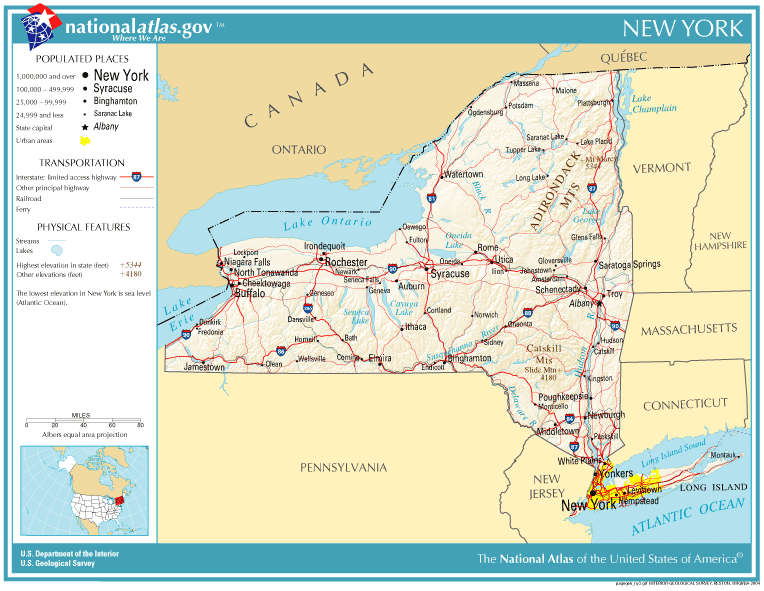 Atlas of New York Wikimedia Commons – Map of Major Cities in New York