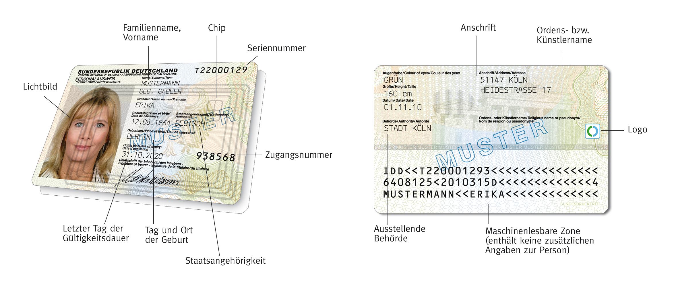 Personalausweis Nummer