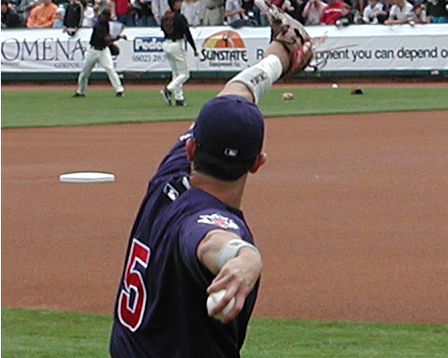 Garciaparra with the Cubs in 2005 spring training Nomar Garciaparra Chicago Cubs.jpg