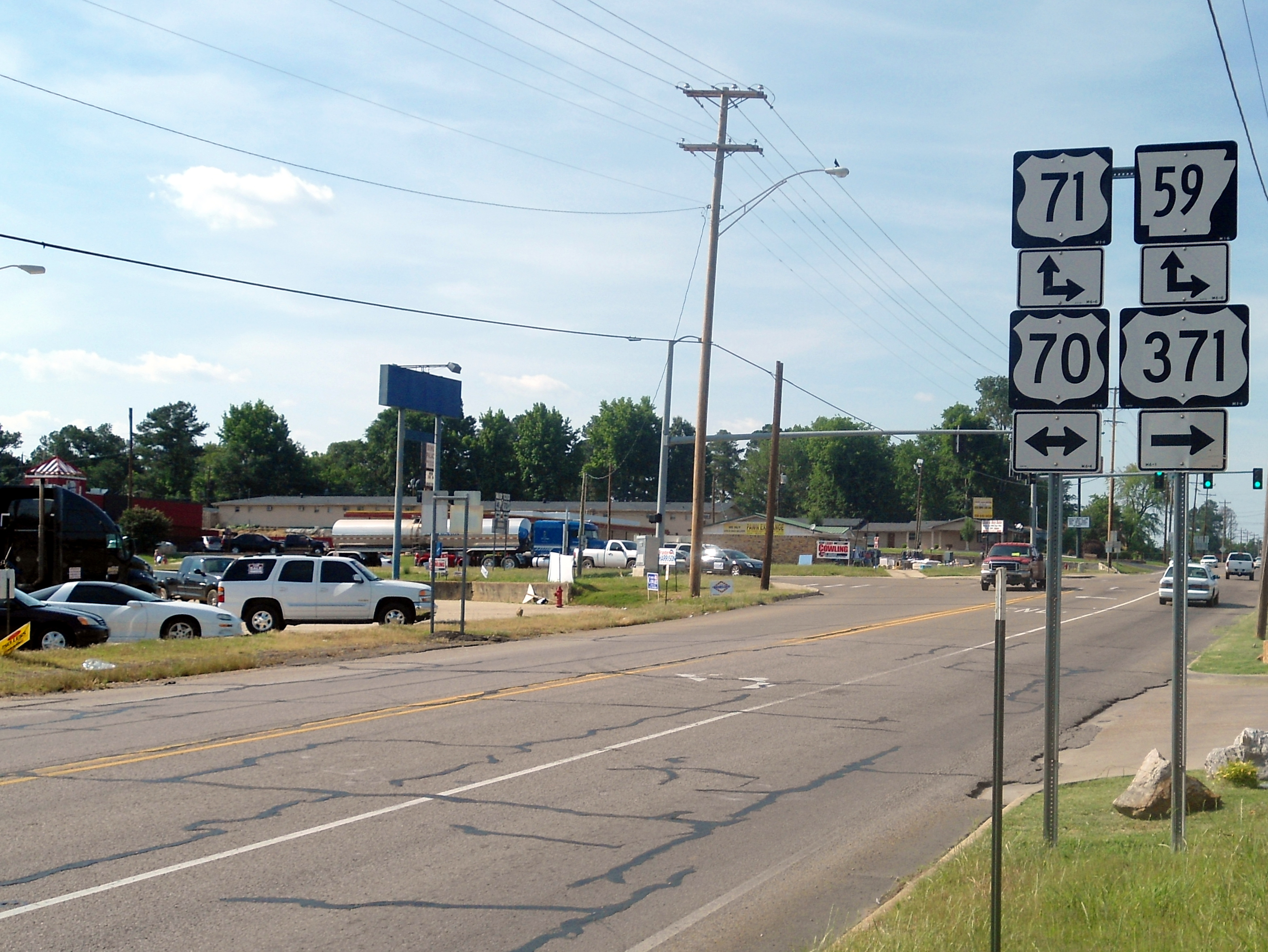 File Northern Terminus Of Us 371 In De Queen Arkansas Jpg