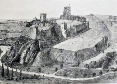 File Nottingham Castle Reconstruction Jpg Wikimedia Commons