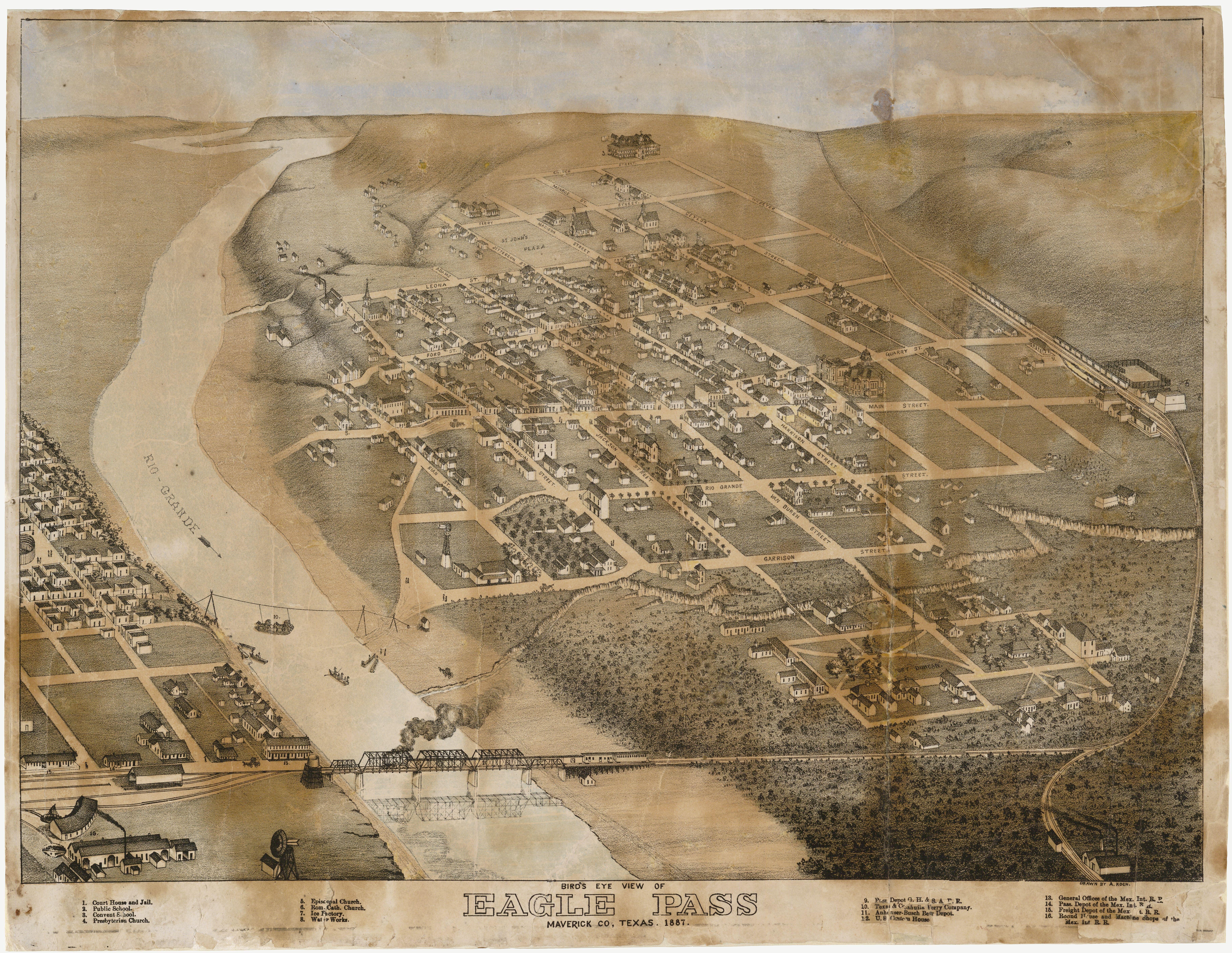 FileOld mapEagle Pass1887jpg Wikimedia Commons